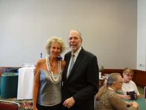 Dr Debbie Joffe Ellis with APA President Dr Donald N. Bersoff