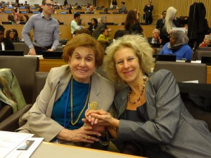 Dr Joffe Ellis with her colleague Dr Florence Denmark; distinguished Professor at Pace University.