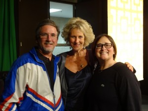 Dr Joffe Ellis with; Dr Shannon Dermer, the producer and Chair of Psychology at Governor's State University (where the filming took place), and Mark the director