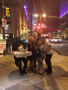Dr Joffe Ellis  taking food to the homeless in the area
